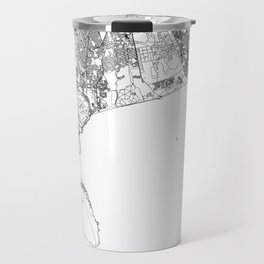 Cape Town White Map Travel Mug