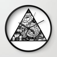 triangle Wall Clocks featuring Triangle by adroverart