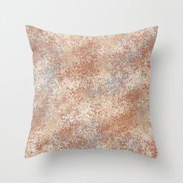 Cavern Clay SW 7701 and Abstract Distressed Chaotic Sponge Paint Pattern 2 Throw Pillow