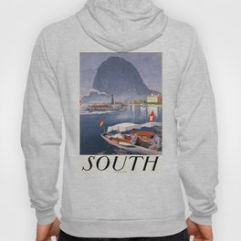 1924 Switzerland South Travel Poster Hoody