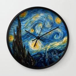A Starry Night at Hogwarts Wall Clock