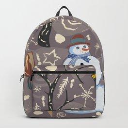 Friendly Snowman Backpack