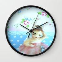 ballerina Wall Clocks featuring Ballerina by Vintage  Cuteness