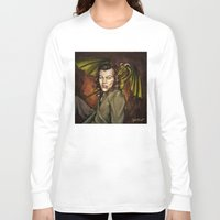 cyrilliart Long Sleeve T-shirts featuring Dragon Series: Harry by Cyrilliart