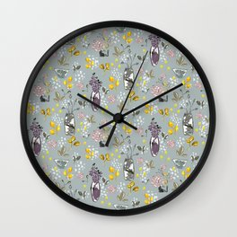Bouquets for Days Wall Clock
