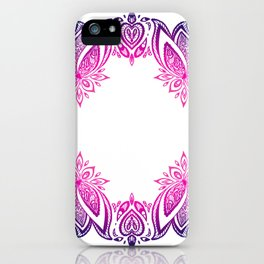 indian pattern with lotus iPhone Case