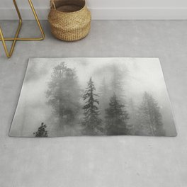Forest In The Clouds - Nature Photography Rug