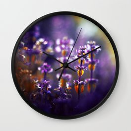Over the Gold and Hills Wall Clock