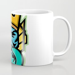 Poseidon Greek God Mascot Coffee Mug