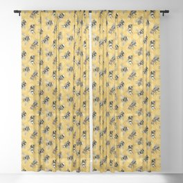 Busy Bees Sheer Curtain
