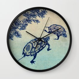 TWO TURTLES Wall Clock