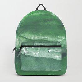 Dark sea green watercolor Backpack