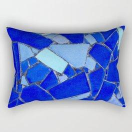 Blue Tiles Rectangular Pillow