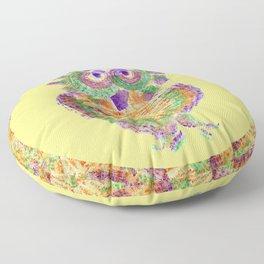 Purple Owl Floor Pillow