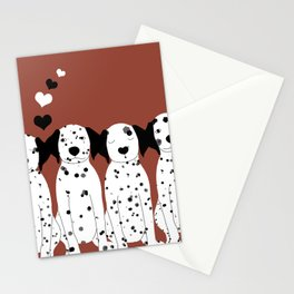 Dalmatas Stationery Cards