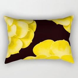 Large Yellow Succulent On Black Background #decor #society6 #buyart Rectangular Pillow