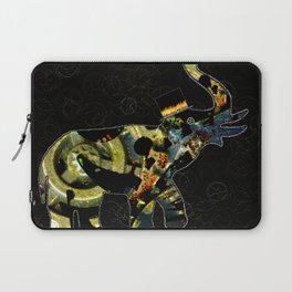 Steampunk Elephant, Scanography Art Laptop Sleeve