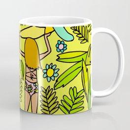 Wander On // Single fin Twin Fin surf art tropical Coffee Mug