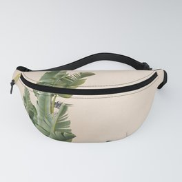 Tropical palms on pastel | Lush greenery in the South of France | Botanical art print Fanny Pack