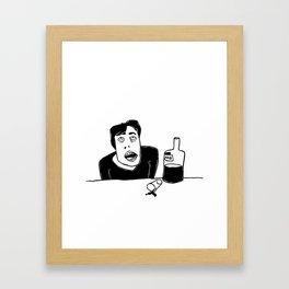 Vodka (drinking alone) Framed Art Print