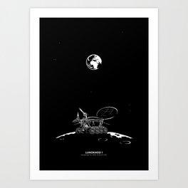 LUNOKHOD 1 Art Print