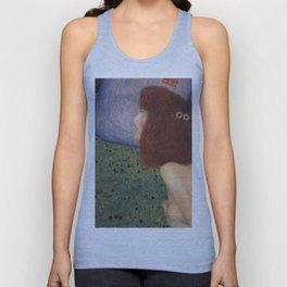 Gustav Klimt - Girl With Blue Veil Unisex Tank Top