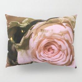 Shabby Chic Soft Peach-Pink Roses Pillow Sham