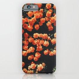 Orange flower fleurs iPhone Case