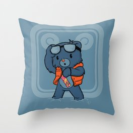 Marty McBear Throw Pillow