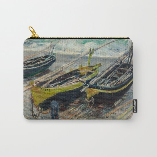 Claude Monet - Three Fishing Boats Carry-All Pouch