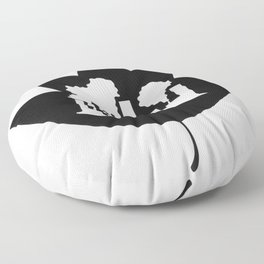 Pollution through Negative Space in Leaf Floor Pillow