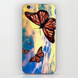 Flying Monarch Butterflies iPhone Skin
