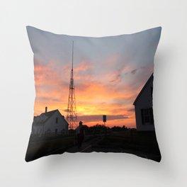 Coastguard Sunset Throw Pillow