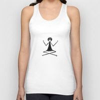 yoga Tank Tops featuring Yoga by flapper doodle