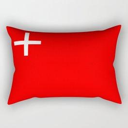 Schwyz region switzerland country flag swiss Rectangular Pillow