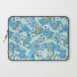 Weapon Floral-Blue Laptop Sleeve
