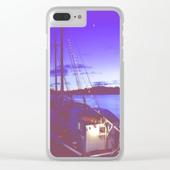Twilight Sea Clear iPhone Case