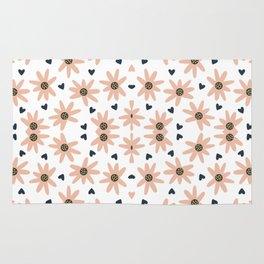 Lovely Modern Flowers Pattern Prints Rug