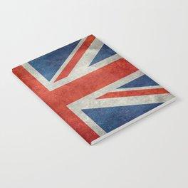 """UK British Union Jack flag """"Bright"""" retro Notebook"""