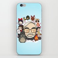 hayao miyazaki iPhone & iPod Skins featuring Ghibli, Hayao Miyazaki and friends by KickPunch