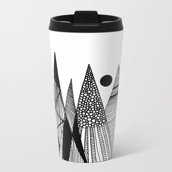 Patterns in the mountains II Metal Travel Mug