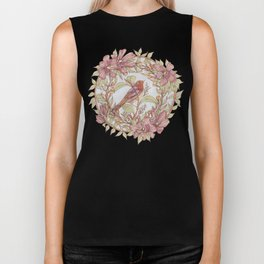 Magnolia And Marigold Wreath With Songbird Biker Tank