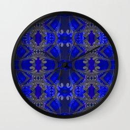 Boujee Boho Harmonic Indigo Color Therapy Wall Clock