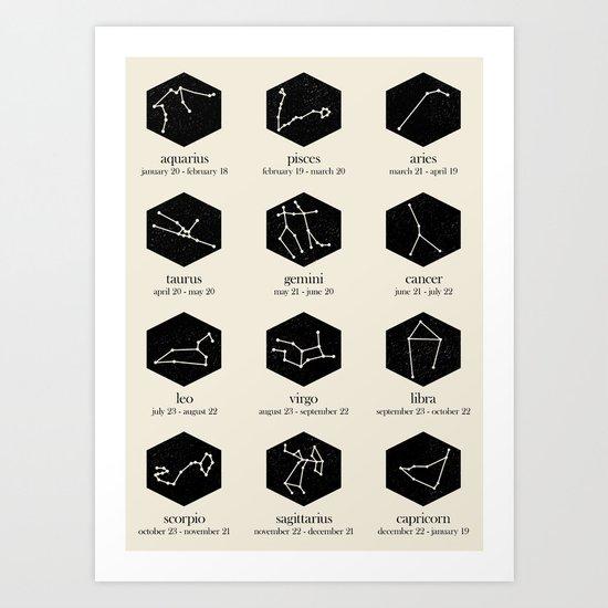Zodiac Art Print