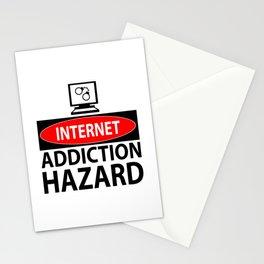 Internet – addiction hazard Stationery Cards