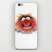 muppets iPhone & iPod Skins featuring Animal, The Muppets by KitschyPopShop