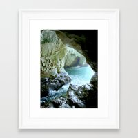 israel Framed Art Prints featuring Israel Cave by Joyfully Green