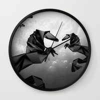 sea horse Wall Clocks featuring Sea Horse by JPeG