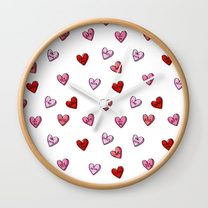Hearts Valentines Day Candy Heart Love Sayings I Love You Pattern
