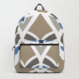 Feathers In Blue And Brown Backpack